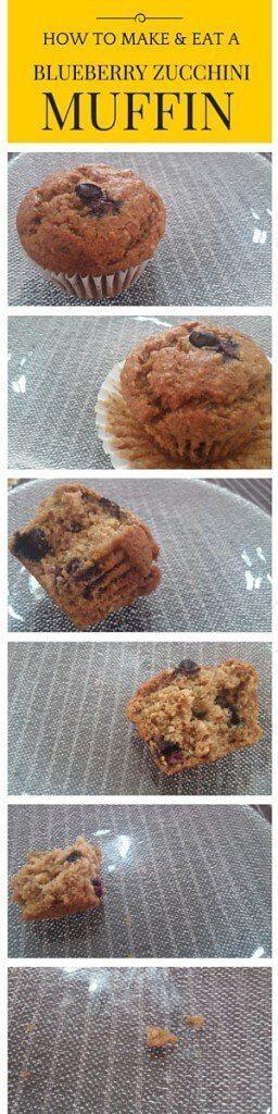 vegan blueberry zucchini muffins