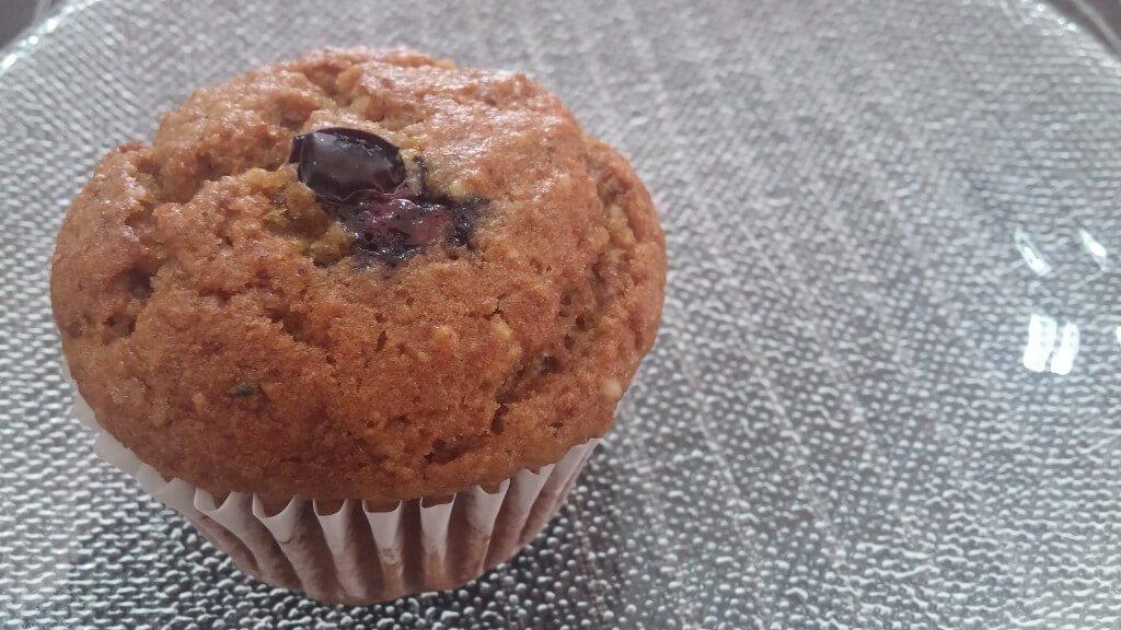 blueberry zucchini muffin