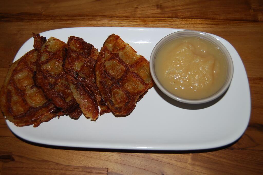 vegan latke recipe made with potato and zucchini