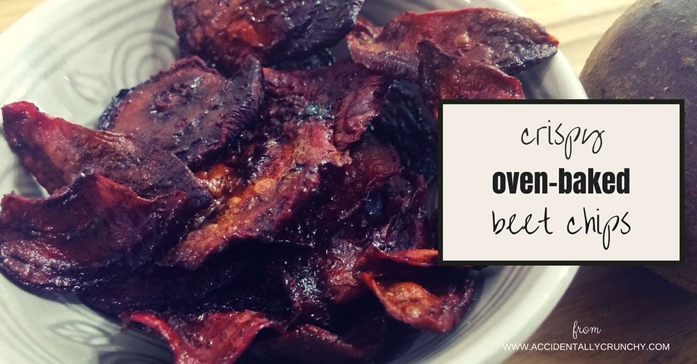oven-baked beet chips