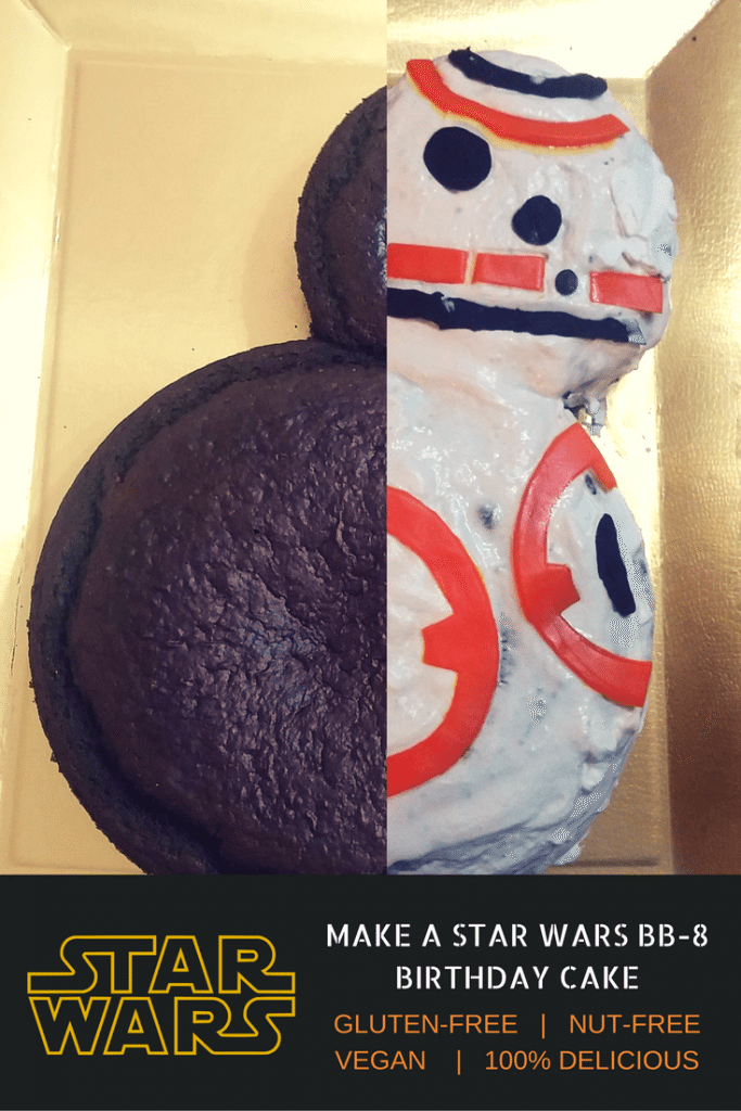 Tremendous Diy Star Wars Birthday Party Ideas How To Make A Bb 8 Star Wars Cake Birthday Cards Printable Riciscafe Filternl