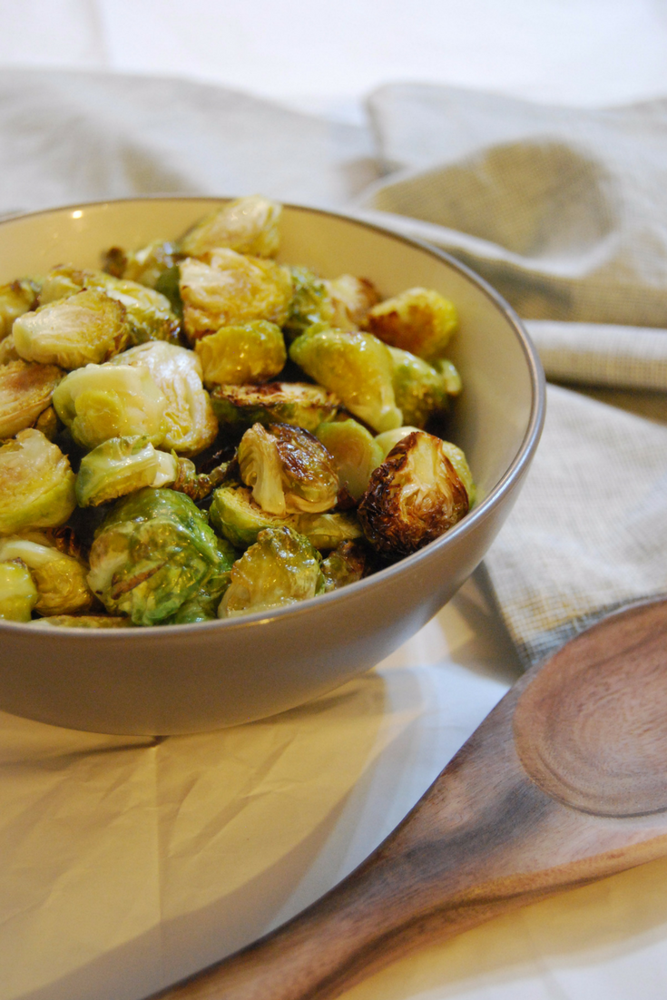 These easy to make roasted brussel sprouts are a delicious and healthy side dish to add to any meal. Find more healthy, food allergy-friendly recipe inspiration at accidentallycrunchy.com
