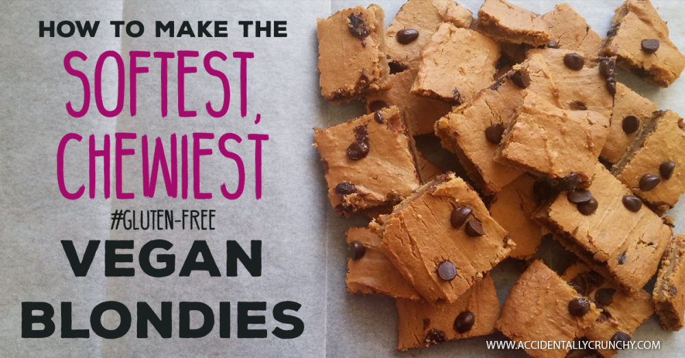 Vegan Blondies | Healthy Gluten-Free Chocolate Chip Cookies