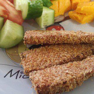 Vegan Tofu Shnitzel | Baked Breaded Tofu