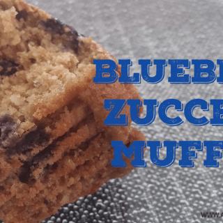Blueberry Zucchini Muffin Recipe | Vegan Muffins