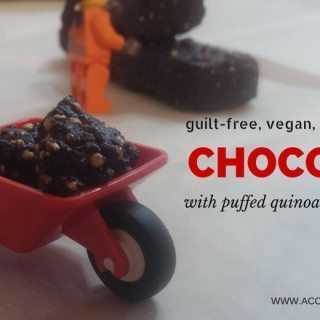 Puffed Quinoa and Peanut Butter Chocolate | accidentallycrunchy.com