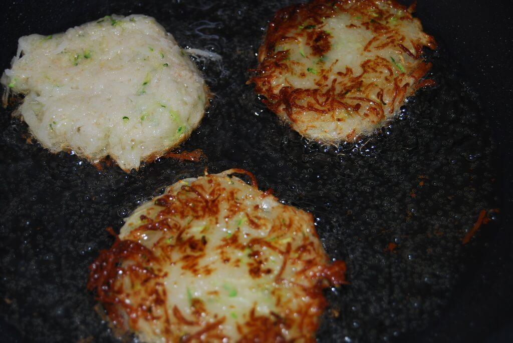 vegan potato latkes - traditional Hannukah potato pancakes
