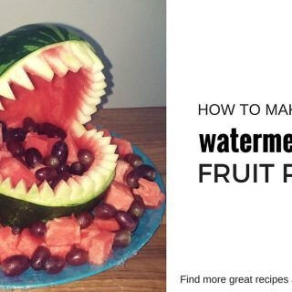 How to carve a watermelon shark | find more how to guides and recipes at accidentallycrunchy.com