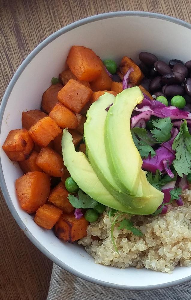 Quinoa Sweet Potato Black Bean Buddha Bowl | from Accidentallycrunchy.com