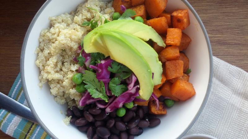 Sweet Potato Buddha Bowl with Quinoa and Black Beans