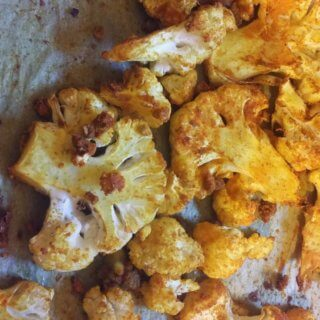 Roasted Cauliflower Recipe with Turmeric, Cumin, and Garlic