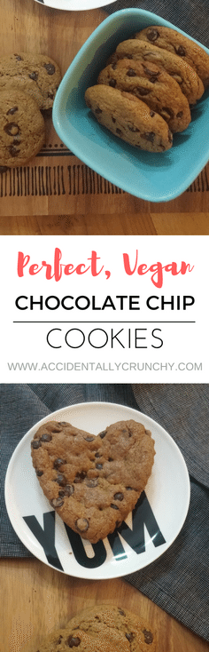 vegan chocolate chip cookie recipe from accidentallycrunchy.com