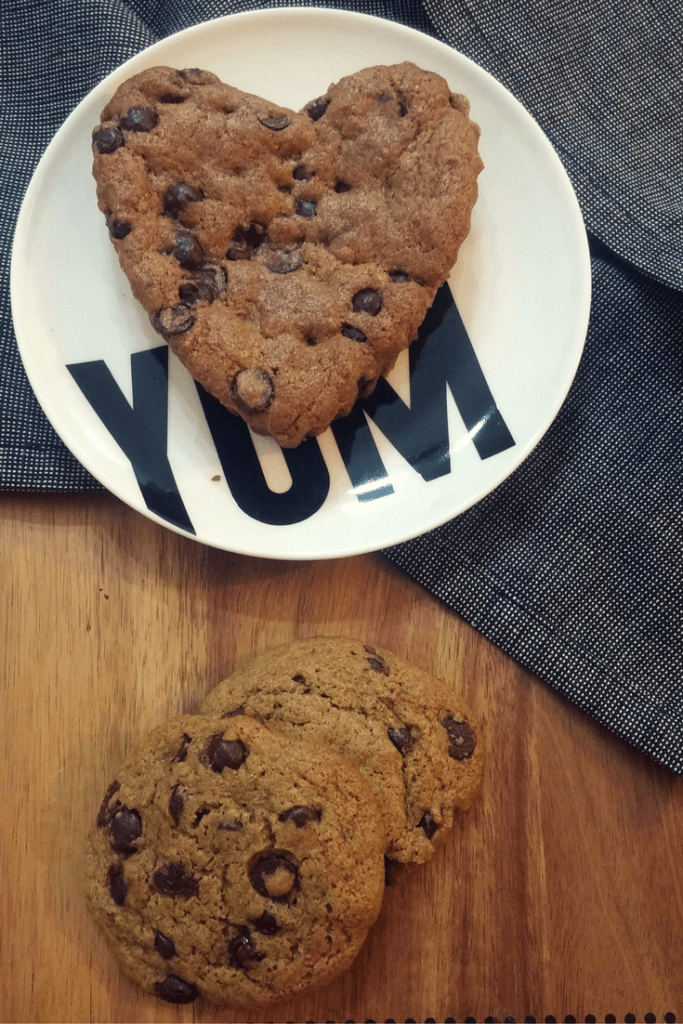 This deliciously chewy chocolate chip cookie recipe is naturally vegan, nut-free and optionally soy-free | find more delicious, food allergy friendly recipes at http://accidentallycrunchy.com
