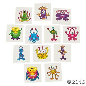 These adorable monster tattoos will be worn with pride by your little monster. For more great non-food Halloween treat ideas, go to accidentallycrunchy.com