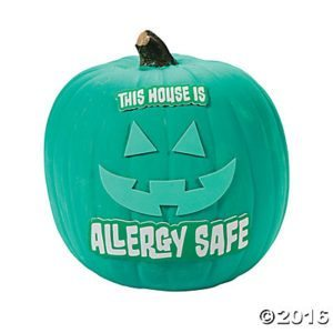 Send a clear message halloween night and let families know you are offering non-food treats in support of families with food allergies and other dietary restrictions with this great teal pumpkin decorating kit from Oriental Trading