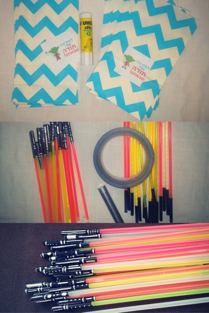 Make your own mini light sabers from glow sticks | Find more Star Wars Birthday Party ideas on accidentallycrunchy.com
