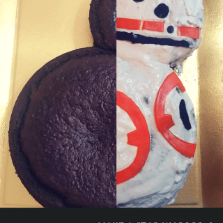 How to throw an Allergy-Friendly Star Wars Birthday Party (including step by step instructions for making your own BB-8 cake) | find great recipes and food allergy resources on accidentallycrunchy.com