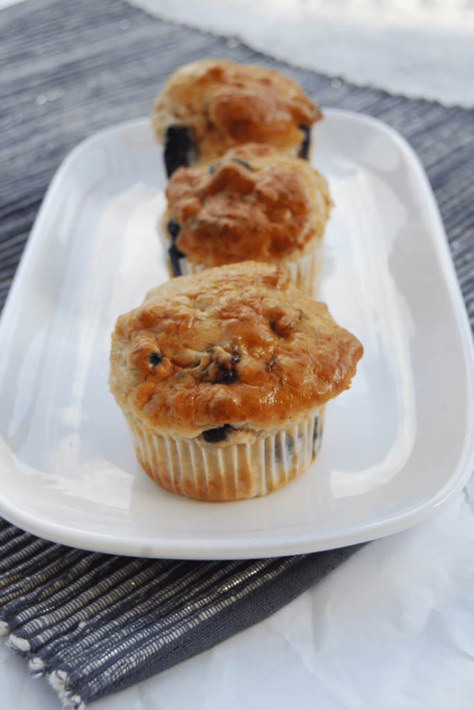 Quick and easy, allergy friendly lemon blueberry muffins - vegan, gluten-free and nut-free | find more allergy friendly recipes at accidentallycrunchy.com
