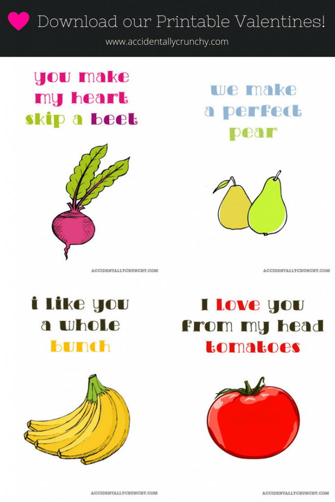 Download our Free Printable Valentine Cards – Food Valentine Cards