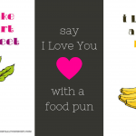Say I love you with a food pun! These adorable printable valentine cards are free to download and are the perfect way to tell your friends and family you care for them this Valentine's Day | download the full set from accidentallycrunchy.com