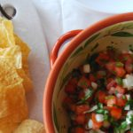 This fresh salsa recipe will be a hit at your superbowl party! Make your pico de gallo as hot as you dare and heat up your superbowl menu! Find more recipes at accidentallycrunchy.com