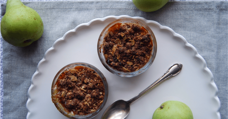 A Perfect Pear Crisp Recipe | Vegan & Gluten-Free