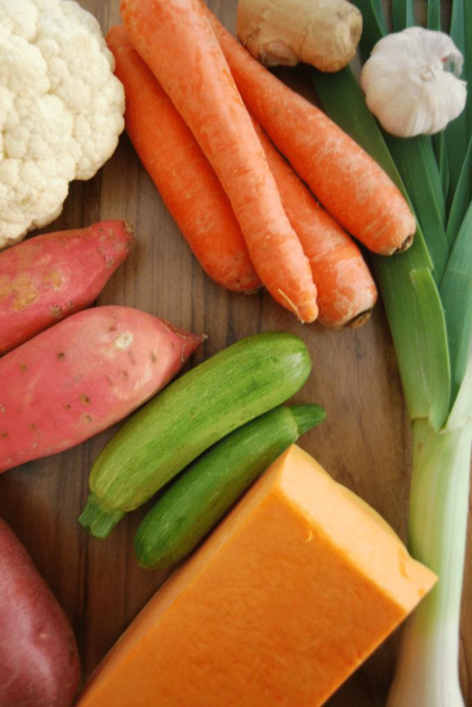 Red Lentil, Sweet Potato and Pumpkin Soup